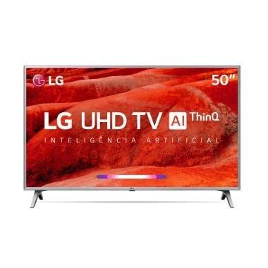 """Menor preço em Smart Tv LG 50"""" UHD 4K Controle Smart Magic ThinQ AI 50UM7500PSB"""