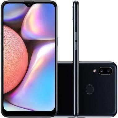 """Smartphone Samsung Galaxy A10S 32GB Preto Câmera Traseira 13MP + 2MP Selfie 8MP Tela Infinita de 6.2"""" SM-A107"""