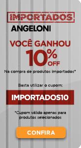 Produtos importados com 10% OFF utilizando o cupom IMPORTADOS10