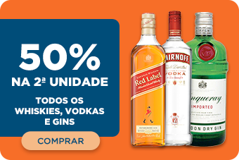 TODOS OS WHISKIES, VODKAS E GINS