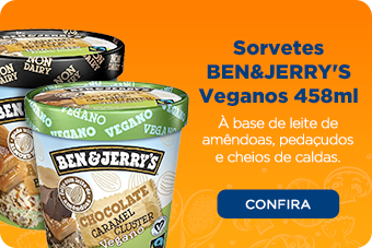Sorvetes BEN&JERRY'S Veganos 458ml
